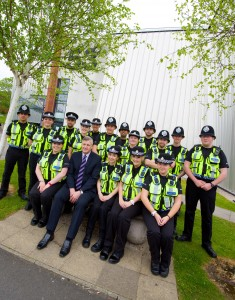 UCLan Community Team of the Year winners with BTP Superintendent Peter Mason